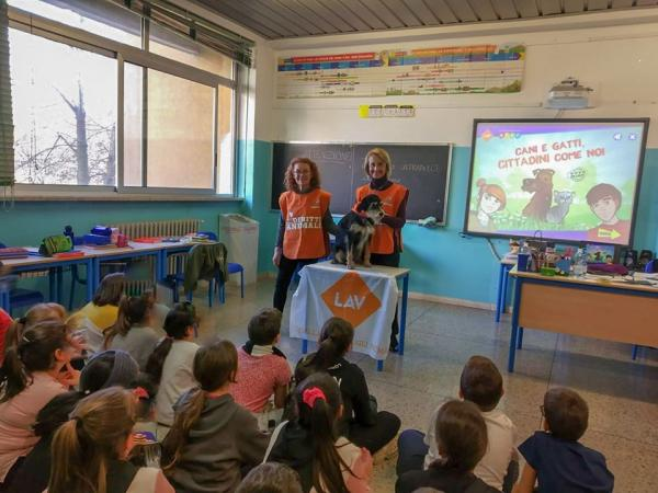 Un intervento di LAV Milano alla Scuola Primaria Salvador Allende - Garbagnate Milanese nel 2020